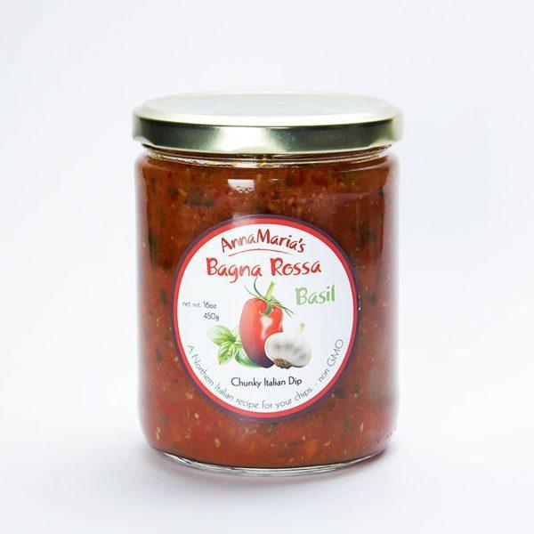 Bagna Rossa Basil Chunky Italian Dip - Anna Maria's Foods