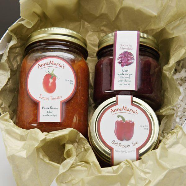 Medium Tomato Sauce, Bagna & Jam Gift Set