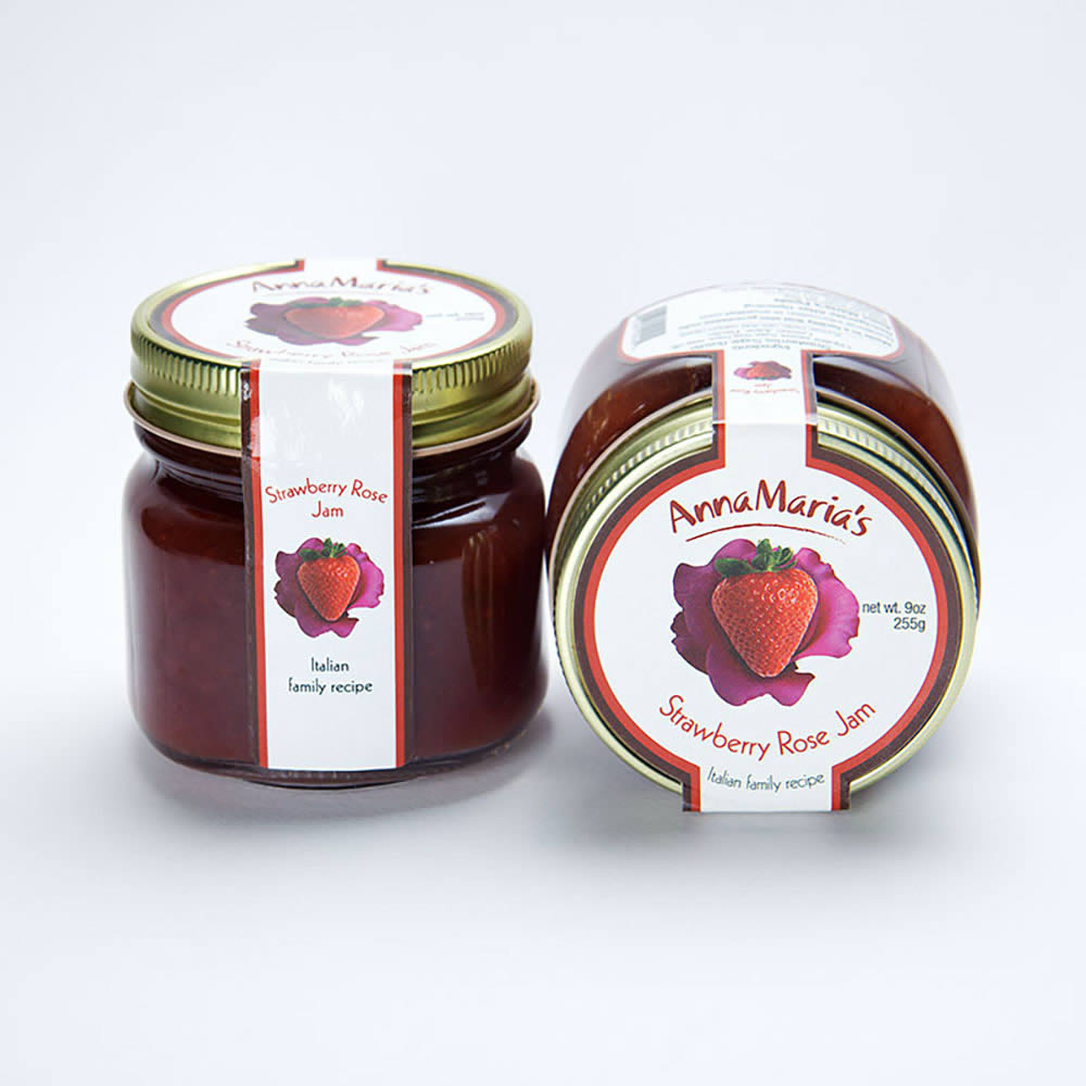 Strawberry Rose Jam » Homemade Italian Jam, Sauce & Bagna » AnnaMaria's