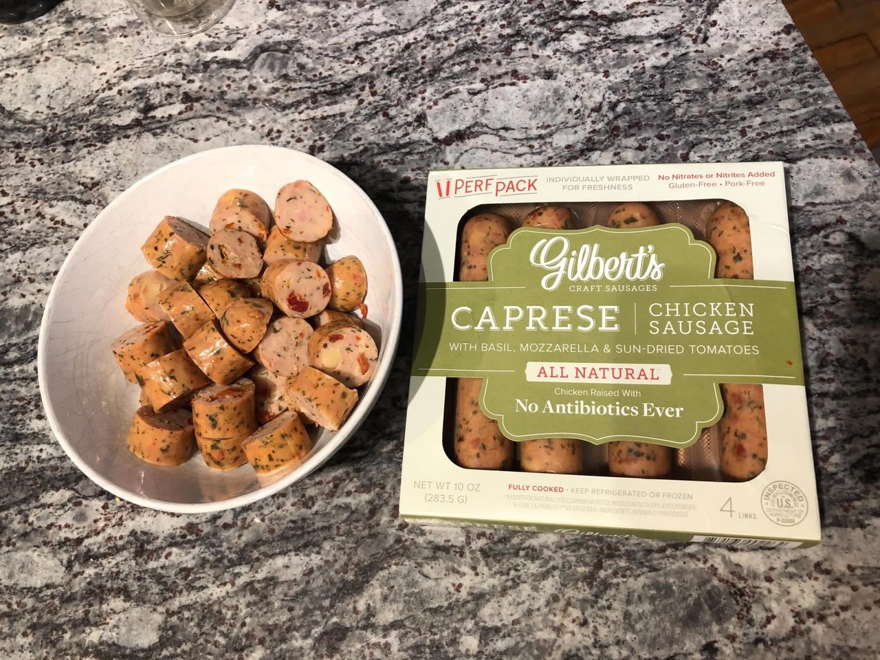 Gilbert's sliced sausage for a recipe | AnnaMaria's