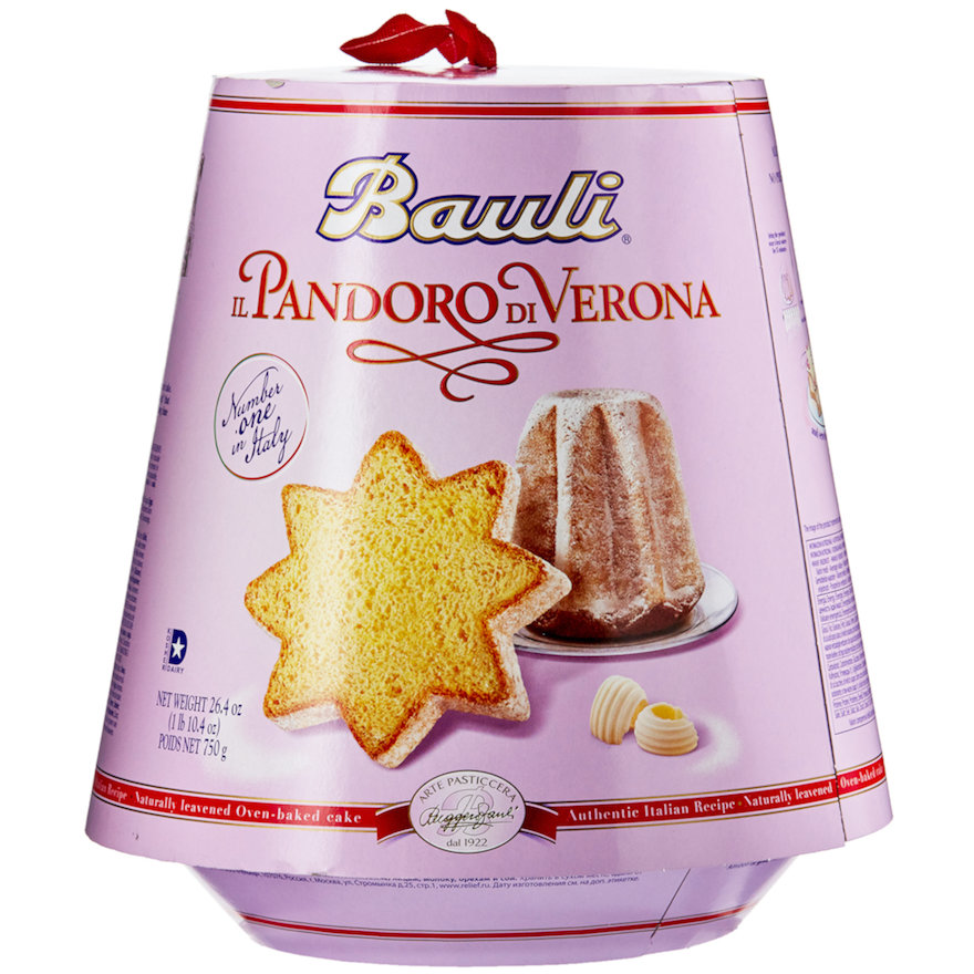 Light lavender box of Bauli Pandoro di Verona recipe ingredient | AnnaMaria's Foods