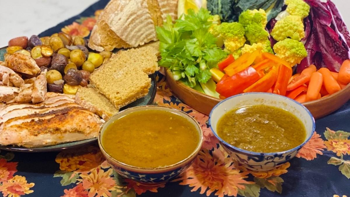 Piemontese bagna cauda with vegetables and einkorn bread | AnnaMaria's